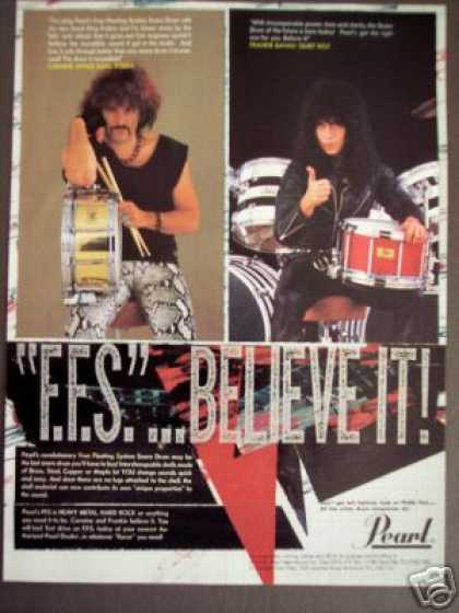 Frankie Banali Carmine Appice Pic Pearl Drums (1985)