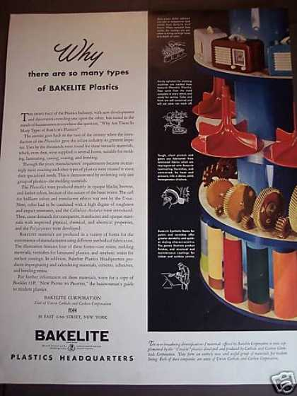 Bakelite Plastics Colors Radios Parts (1941)