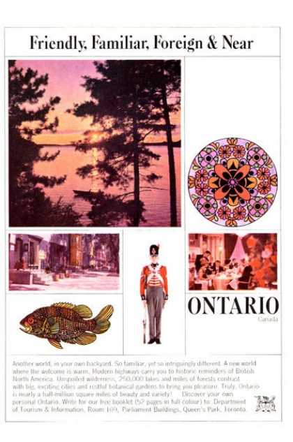 Onterio Travel Canada Tourism (1965)