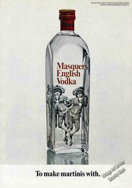 "Masquers English Vodka ""To Make Martinis With"" (1968)"