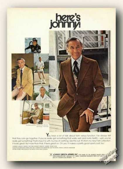 Nice Johnny Carson Photos Color Advertising (1975)