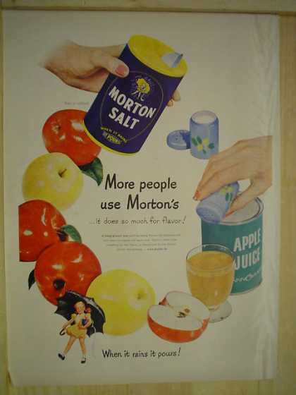 Morton Salt When it rains it pours With Morton Girl (1950)