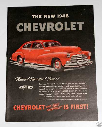"Chevrolet ""Big Car Quality"" Ad, Exc (1948)"