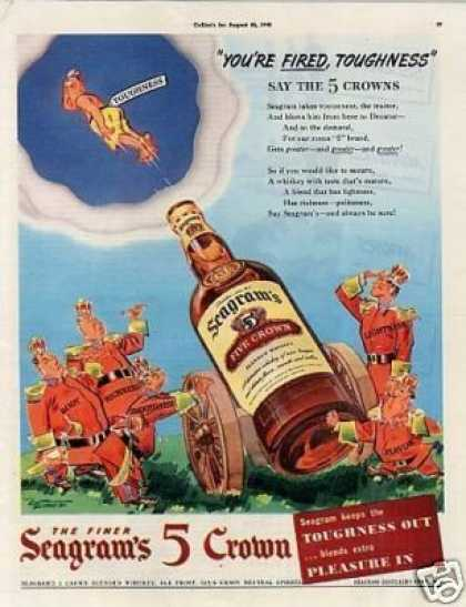 Seagram's Five Crown Whiskey (1942)