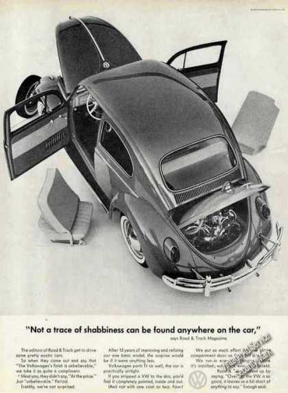 "Vw Volkswagen ""Not a Trace of Shabbiness"" Car (1962)"