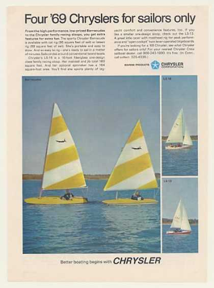 Chrysler Barracuda LS-16 LS-13 Sailboats (1969)