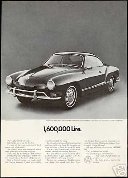 VW Volkswagen Karmann Ghia Car Vintage Photo (1971)