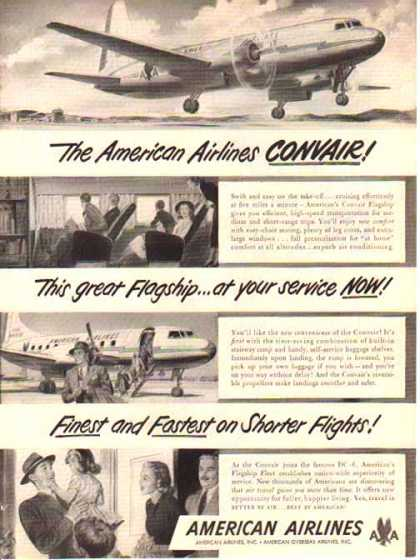 American Airlines – Convair at your service NOW (1948)