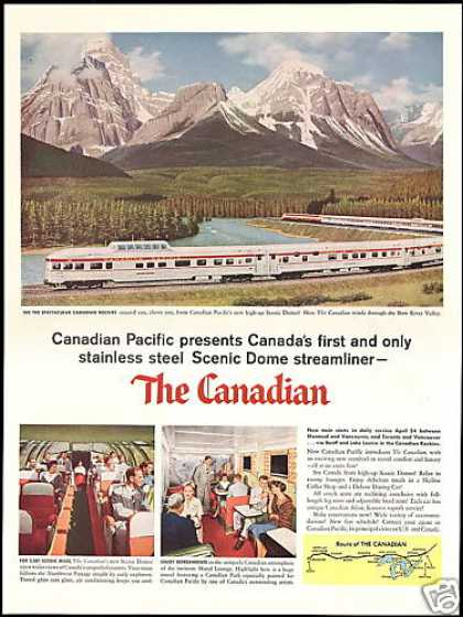 The Canadian Pacific Dome Streamliner Train (1955)