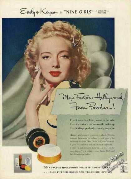 Max Factor Face Powder Evelyn Keyes Photo (1944)