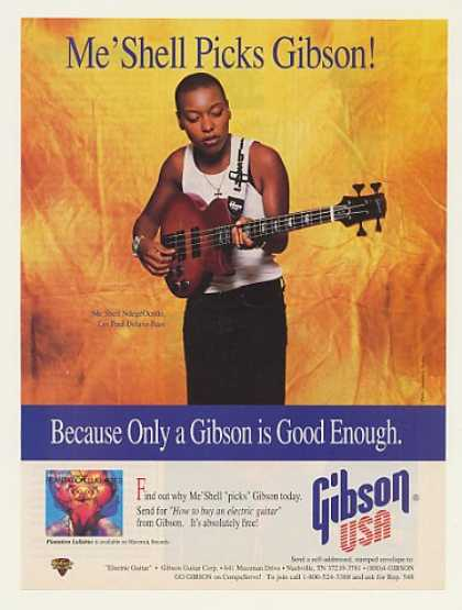 '95 Me'Shell NdegeOcello Gibson Les Paul Deluxe Bass (1995)