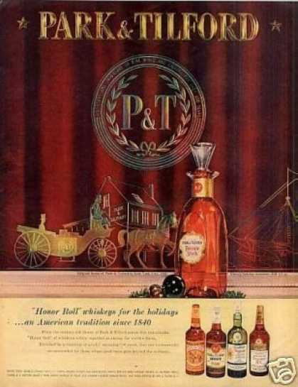 Park & Tilford Whiskey (1958)