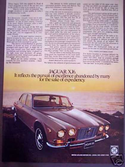 Jaguar Xj6 Jag Classic Car Photo Ad 72cb (1972)