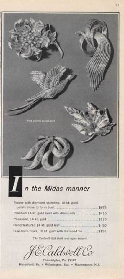 J.e. Caldwell Co. Pin Brooch Collection (1965)