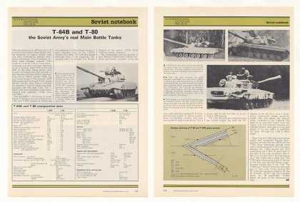 Soviet Army T-64B T-80 Battle Tanks Photo Article (1987)
