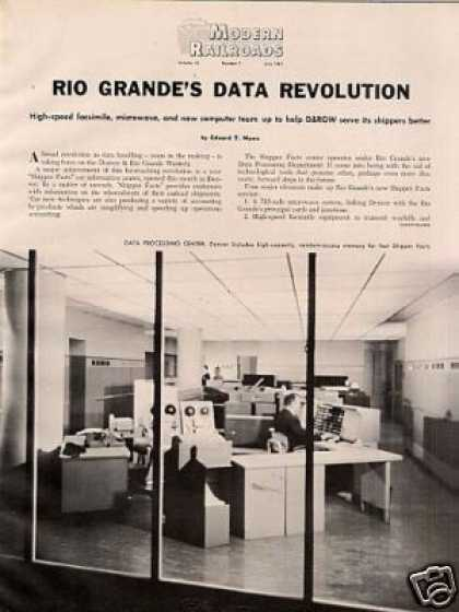 """Rio Grande's Data Revolution"" Article/d&rgw (1961)"