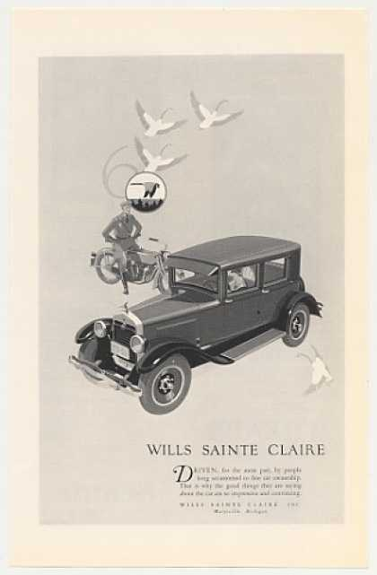 Wills Sainte Claire Motor Car Automobile (1926)