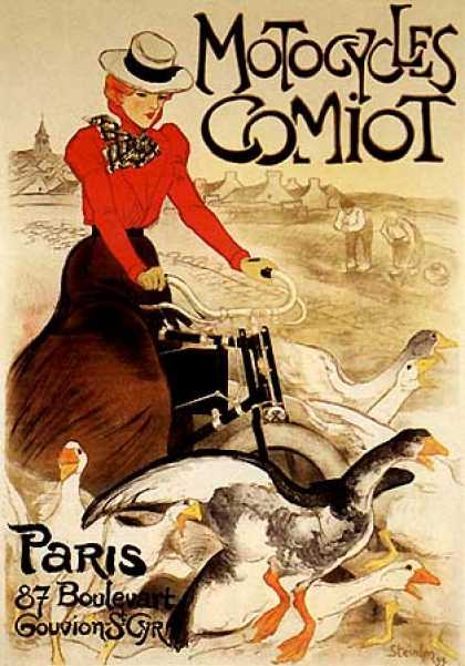 Motorcycles Comiot by Theophile Steinlen (1897)