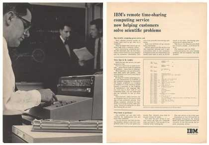 IBM Remote Time-Sharing Computer Service (1965)
