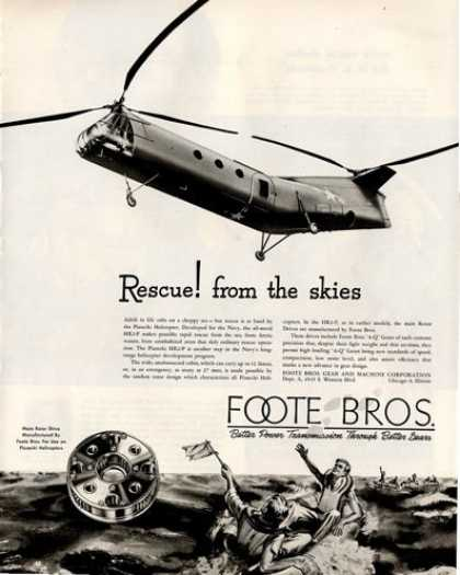 Foote Bros Gears Piasecki Helicopter (1950)
