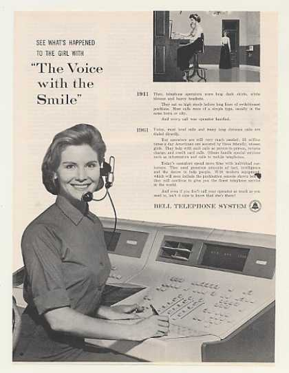 Bell Telephone Switchboard Operator Photo (1961)