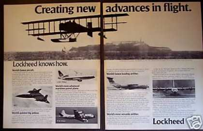 Lockheed Advances In Flight 5 Models Jet Planes (1978)