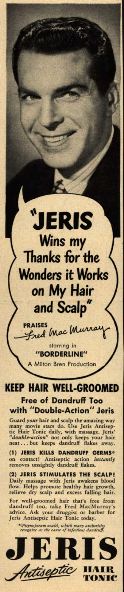 "Jeri's hair tonic – ""Jeris Wins my Thanks for the Wonders it Works on My Hair and Scalp"" (1949)"