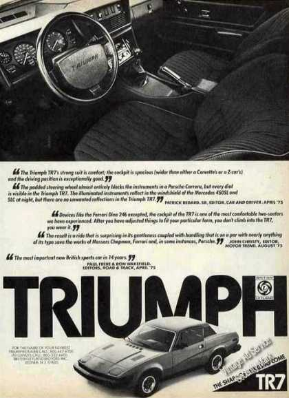 Triumph Tr7 Interior Photo View Car (1976)