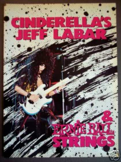 Jeff Labar of Cinderella Ernie Ball Art (1989)