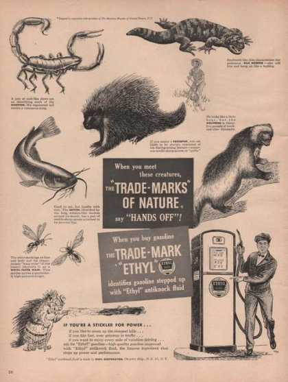 Trade Mark Ethyl Gasoline Animals (1949)
