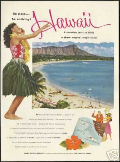 Hawaii Waikiki Diamond Head Photo Travel (1953)