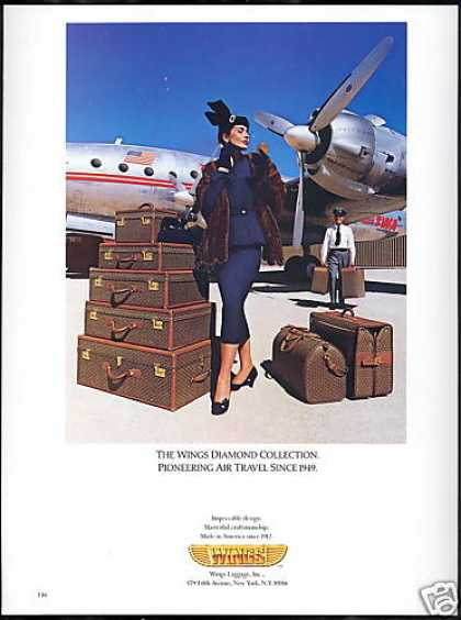 Wings Luggage TWA Airlines Airplane (1989)