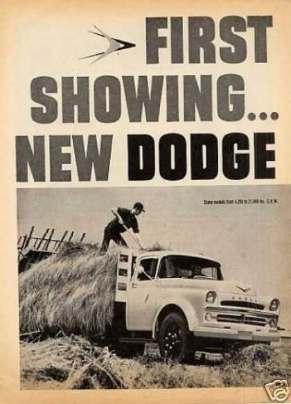 Dodge Trucks Ad 2 Page (1957)