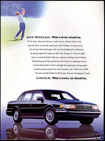 Lincoln Continental Car Jack Nicklaus Golf (1990)