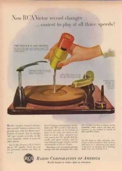 RCA Corporation of America – 45 RPM Record Changer (1952)