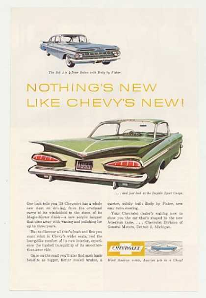 Chevy Bel Air 4-Door Sedan Impala Sport Coupe (1959)