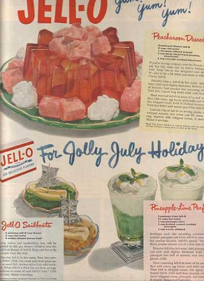 Jello's Six Delicious Flavors of Gelatin Dessert (1950)
