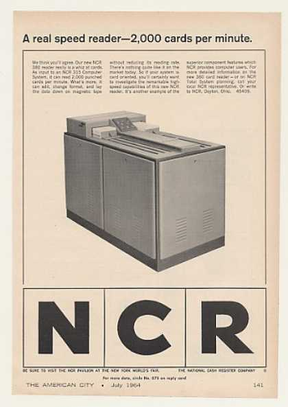 NCR 380 Computer Punched Card Reader (1964)
