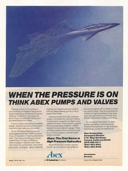 Abex Jet Aircraft Hydraulic Pumps Valves (1987)