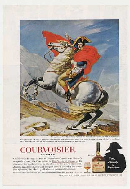Napoleon Bonaparte Crosses Alps Courvoisier (1965)