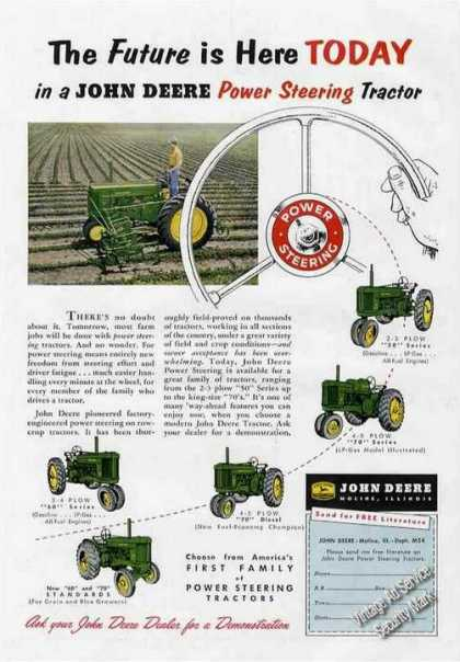 John Deere Power Steering Farm Tractor Photos (1955)