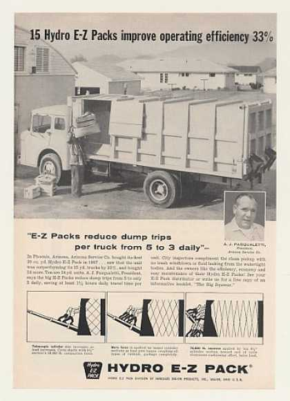 Hydro E-Z Pack Garbage Truck (1960)
