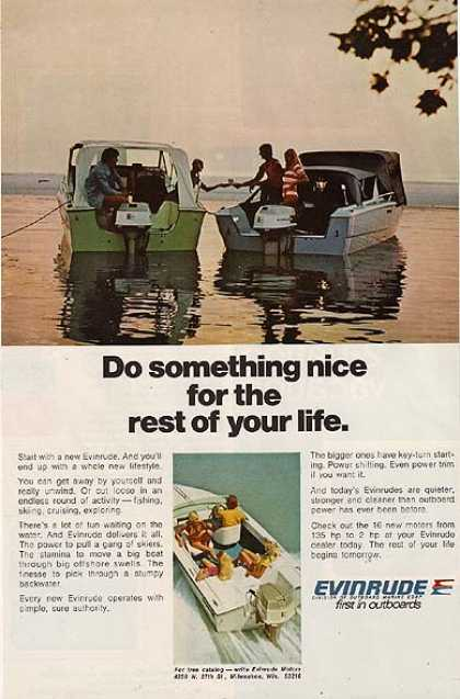 "Evinrude's ""Do something nice for the rest of your life."" (1973)"