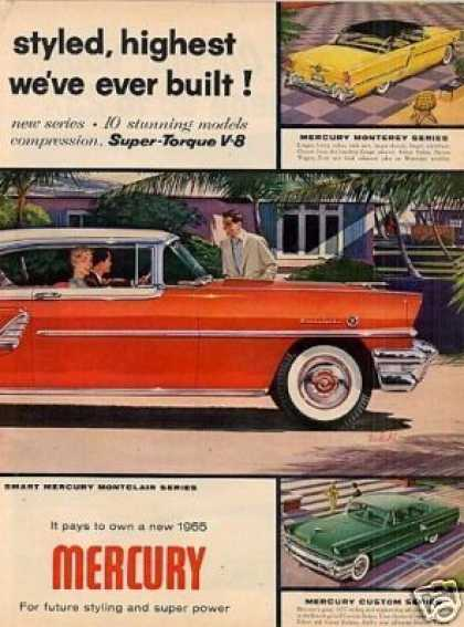 Mercury Montclair Car Ad 2 Page (1955)