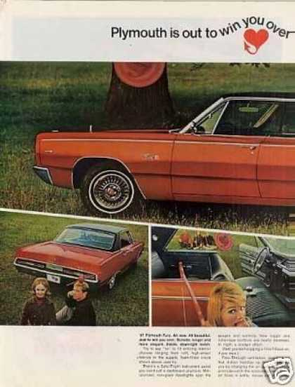 Plymouth Fury Car Ad 2 Page (1967)
