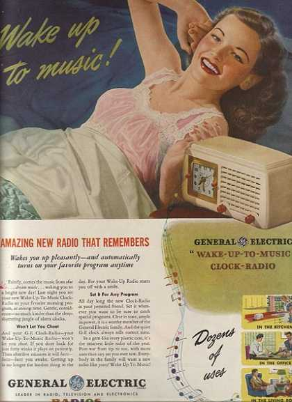 General Electric's Clock-Radios (1946)