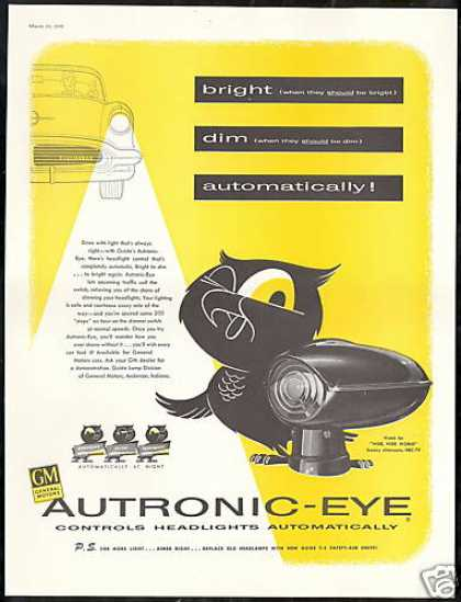 Oldsmobile GM Autronic-Eye Headlight (1956)