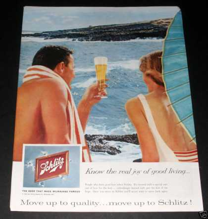 Schlitz Beer, On the Beach (1959)
