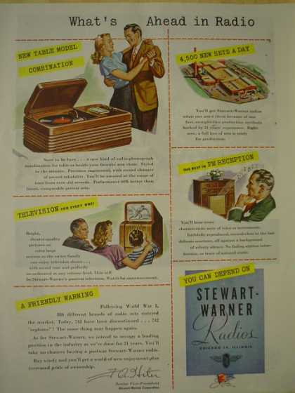 Stewart Warner Radios What's ahead in radio (1945)