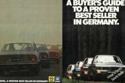 Opel Buyers Guide 10 Pg Magazine Pullout (1974)